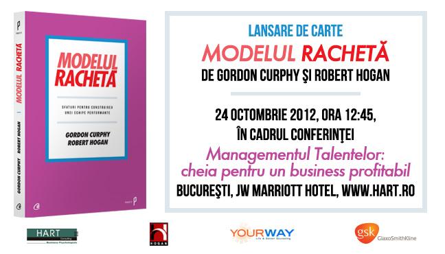 """""""Modelul Rachetă"""", o nouă carte semnată de Robert Hogan, lansată în cadrul conferinței HART HR Strategic"""