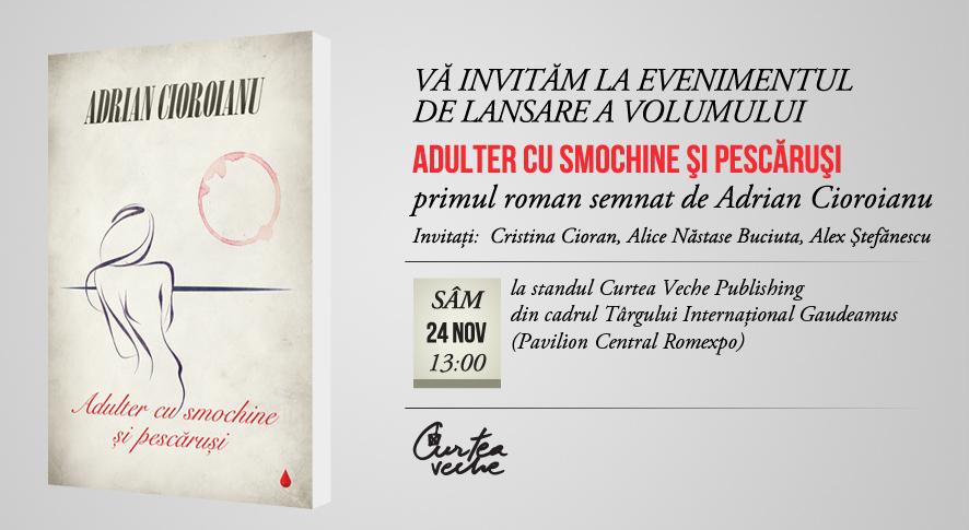 Primul roman semnat de Adrian Cioroianu, lansat la Gaudeamus 2012
