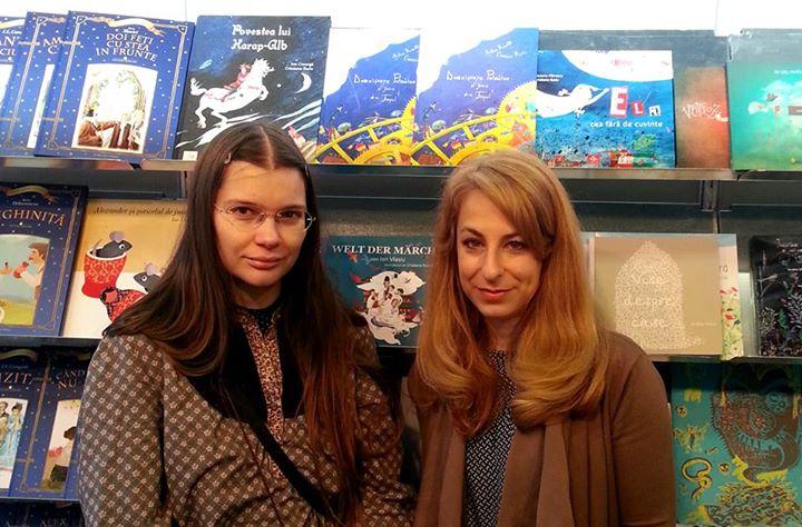 Cristiana Radu şi Adina Rosetti la Bologna // foto: arhiva personală