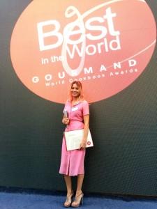Laura Cosoi la Gourmand World Cookbook Awards. Foto: arhiva personală