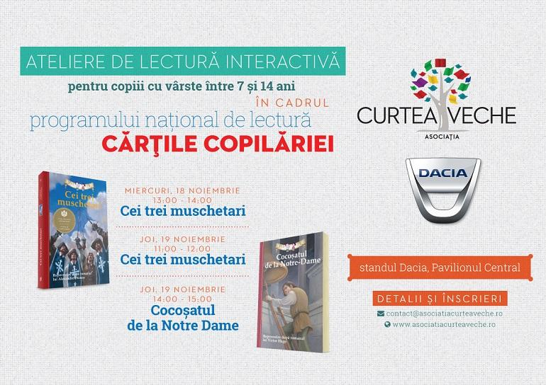 Asociația Curtea Veche și Dacia, ateliere gratuite pentru copii în cadrul Gaudeamus 2015
