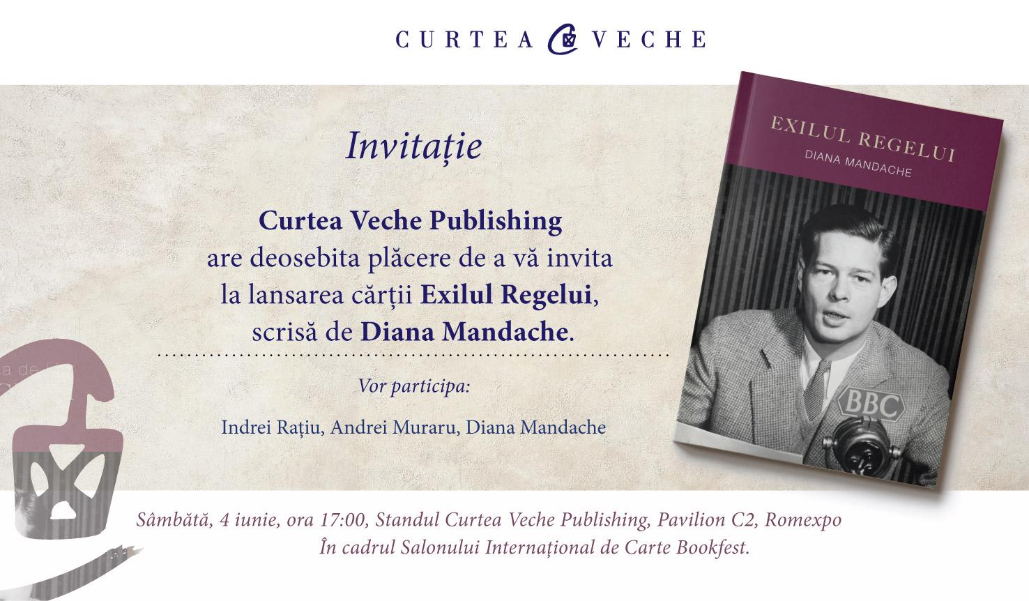 """Diana Mandache lansează """"Exilul Regelui"""" la Bookfest"""