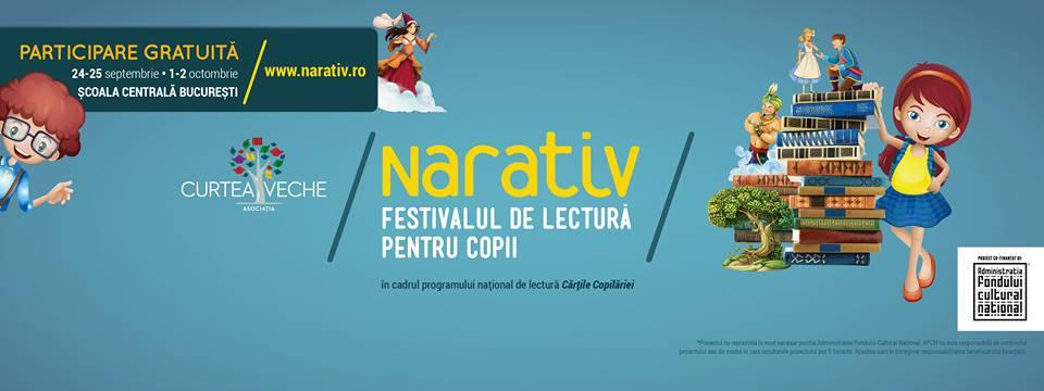 Din 24 septembrie, lectura devine aventură la Festivalul NARATIV!