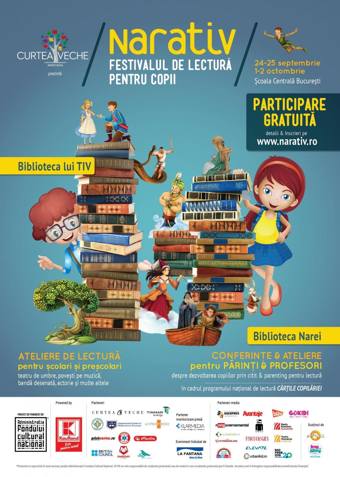 În câte feluri poți citi o poveste? Festivalul NARATIV continuă pe 1 și 2 octombrie!