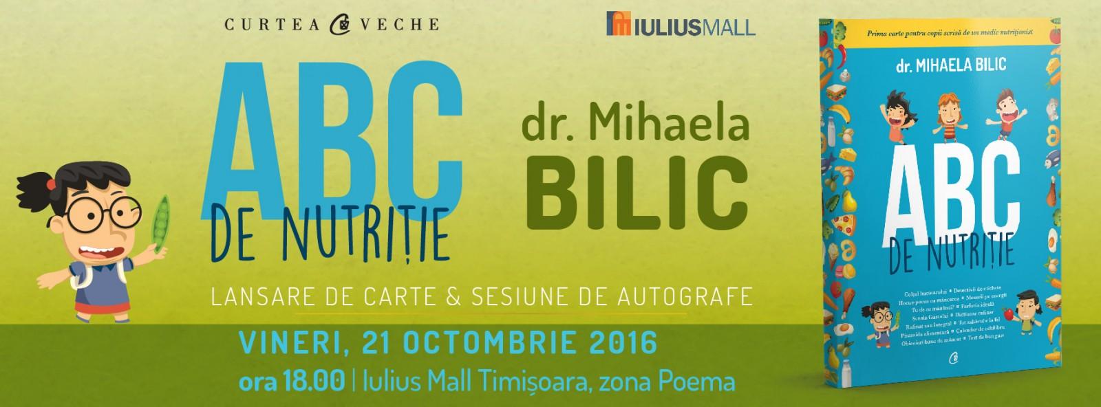 Mihaela Bilic, conferință despre nutriție la Timișoara