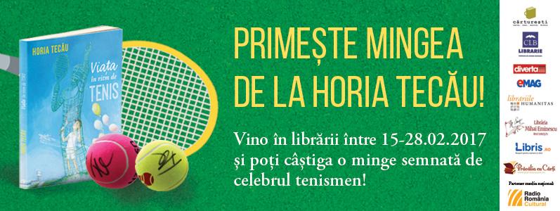 """""""Primește mingea de la Horia Tecău!"""", campanie în librării pentru micii cititori"""