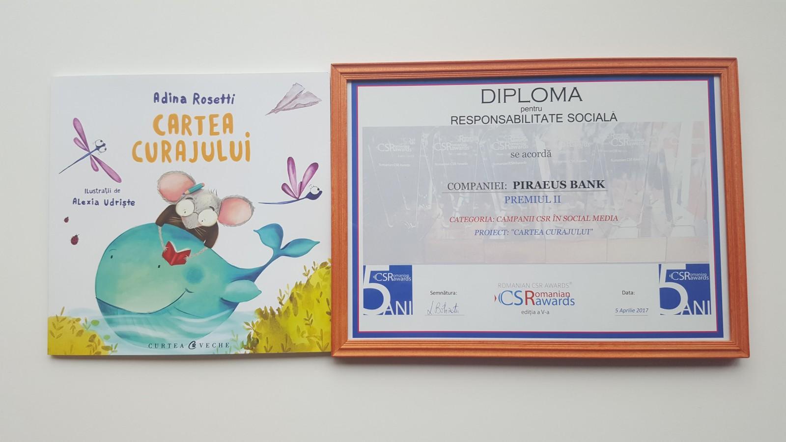 """Proiectul """"Cartea curajului"""" premiat la Gala Romanian CSR Awards"""
