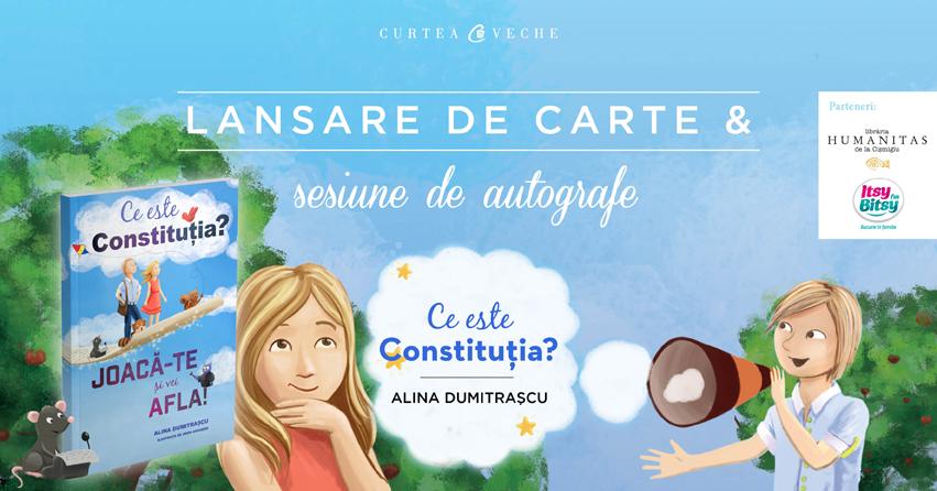 """""""Ce este Constituția? Joacă-te și vei afla!"""" de Alina Dumitraşcu  se lansează pe 16 iunie"""