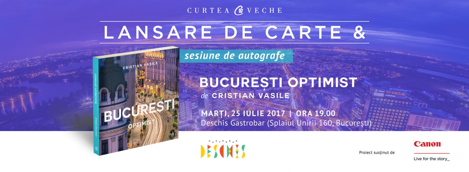 """""""București optimist"""", albumul lui Cristian Vasile, lansat pe 25 iulie"""