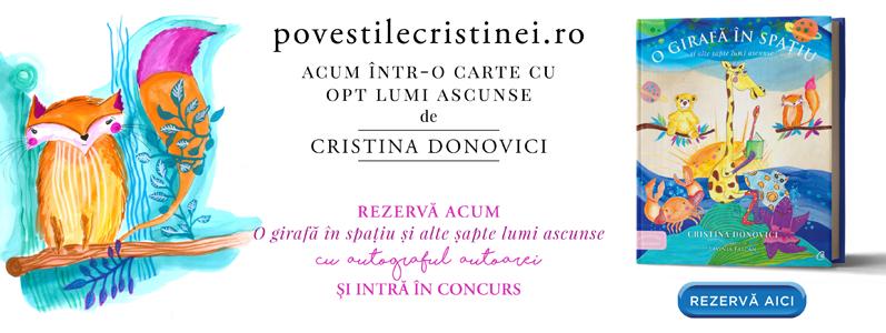 """Precomandă și concurs: """"O girafă în spațiu și alte șapte lumi ascunse"""" de Cristina Donovici"""