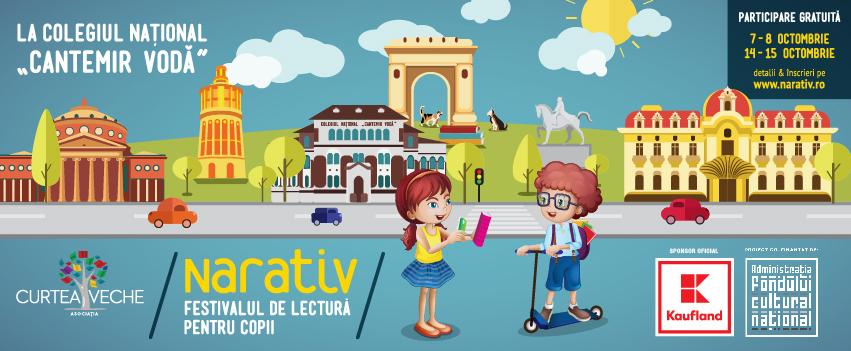 Start înscrieri: 100 de activități gratuite la cea de a III-a ediție  NARATIV – Festivalul de lectură pentru copii unde cititul e plăcere!