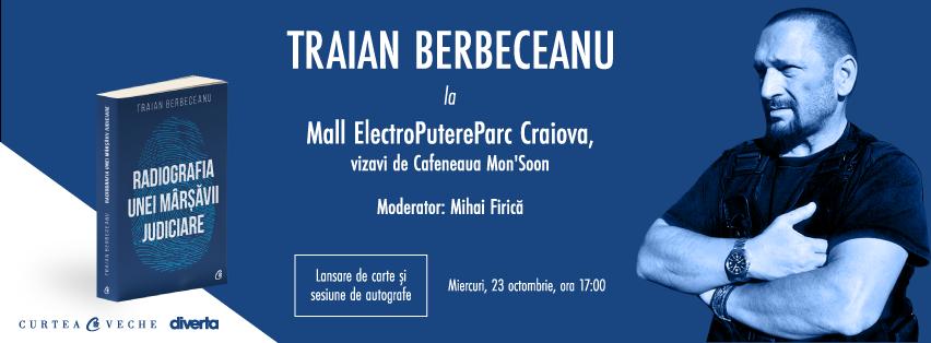 Traian Berbeceanu își lansează cartea în Craiova
