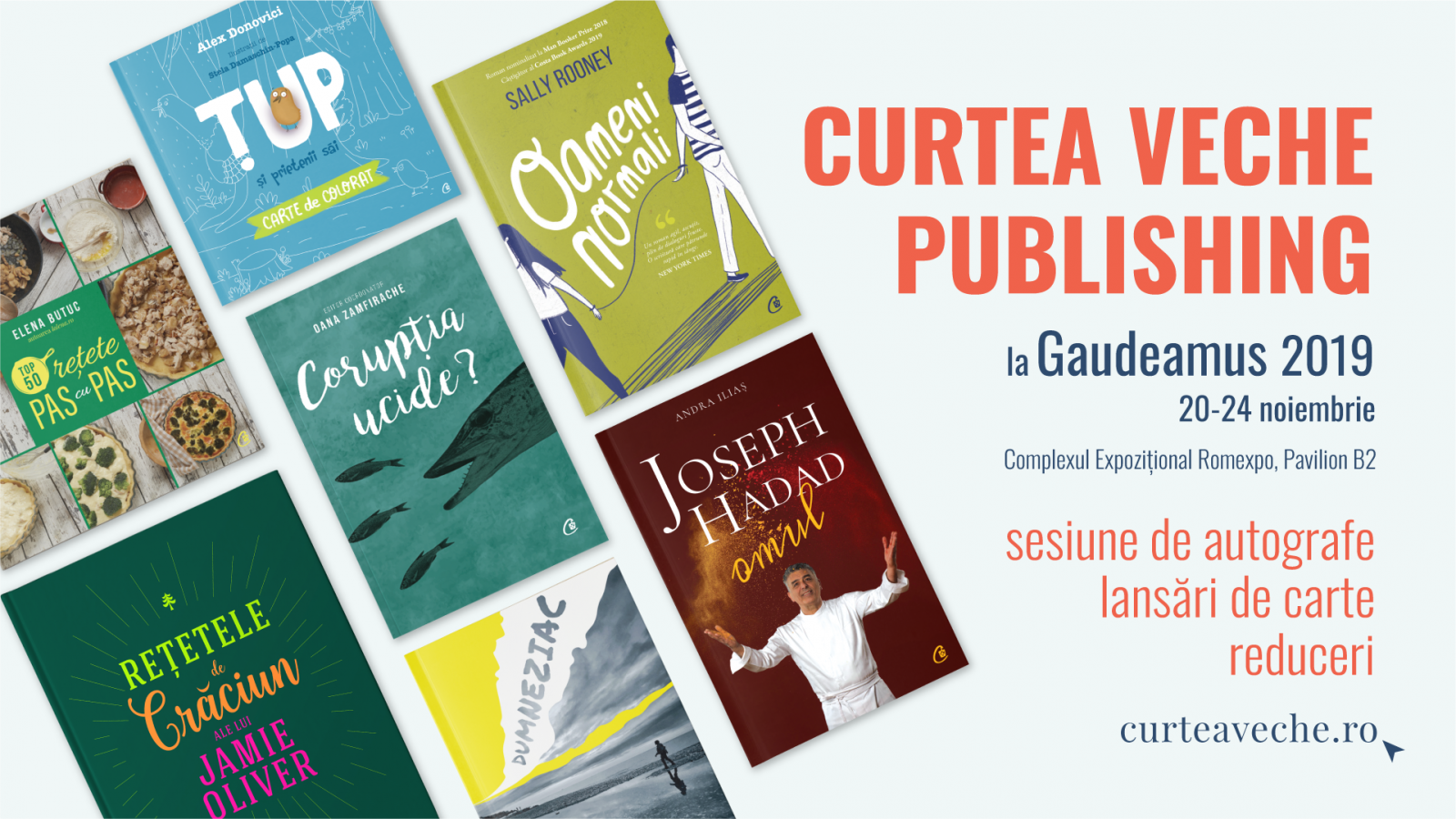 Curtea Veche Publishing aduce #TimpulSăCitim la Gaudeamus 2019