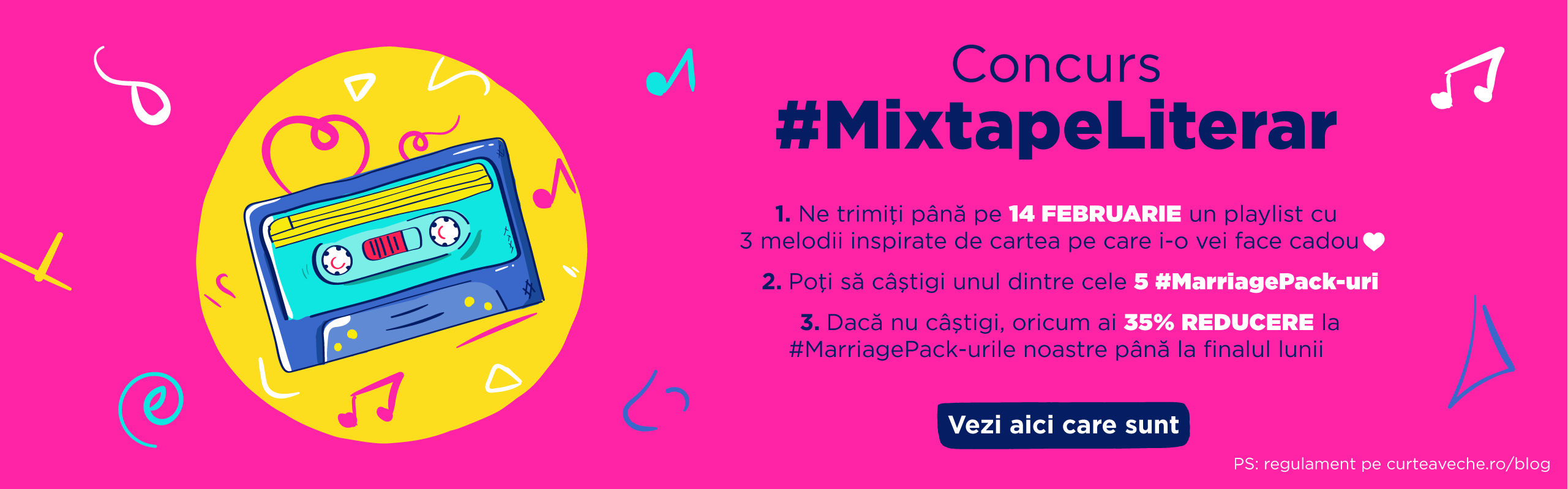 CONCURS: Cucerește-ti perechea cu un #MixtapeLiterar!