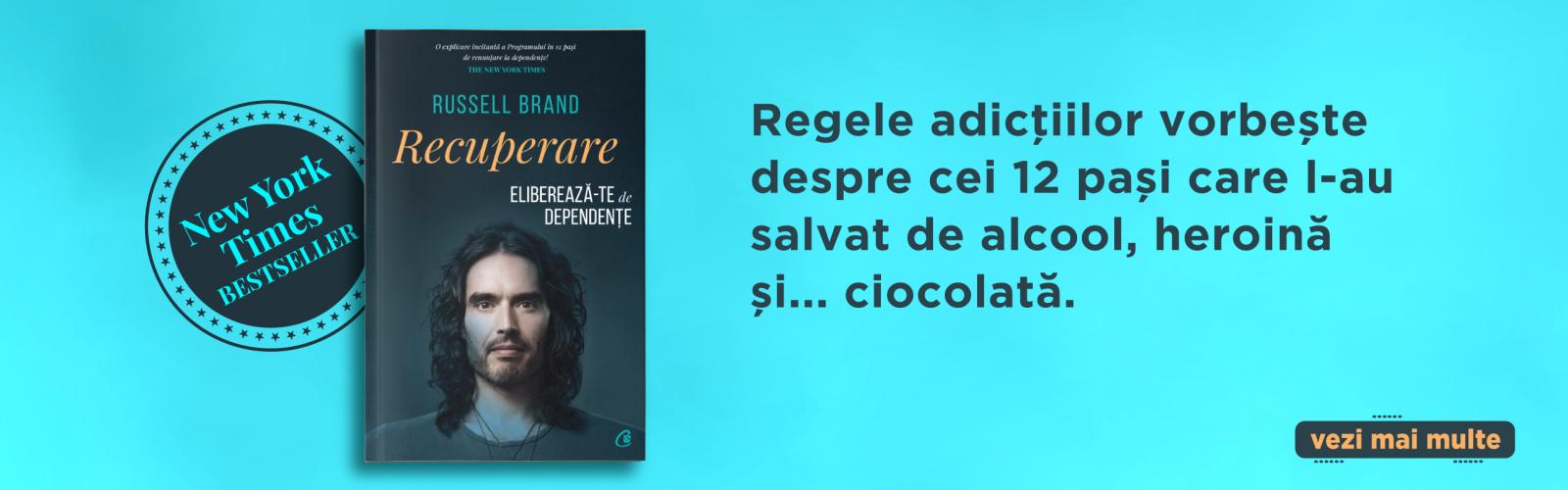 """""""Recuperare"""": actorul Russell Brand scrie o carte  despre cum să te eliberezi de dependențe"""