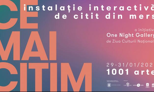 #CEMAICITIM – instalație interactivă de citit din mers