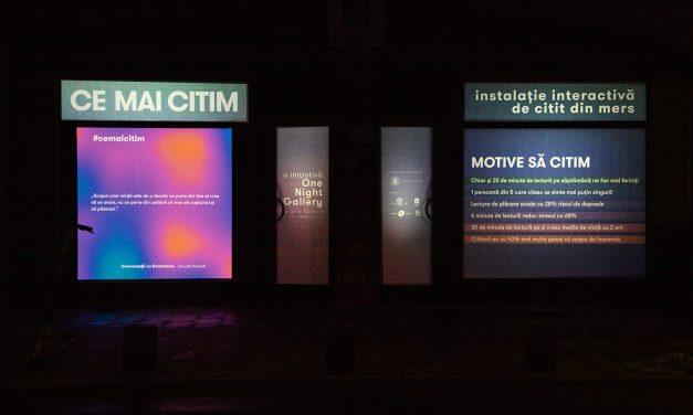 #CEMAICITIM – instalația interactivă de citit din mers – poate fi vizitată între 29 și 31 ianuarie